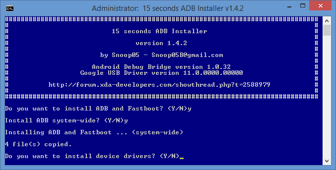 Tech. TOOL   WINDOWS  ADB  Fastboot and Drivers      Android Development