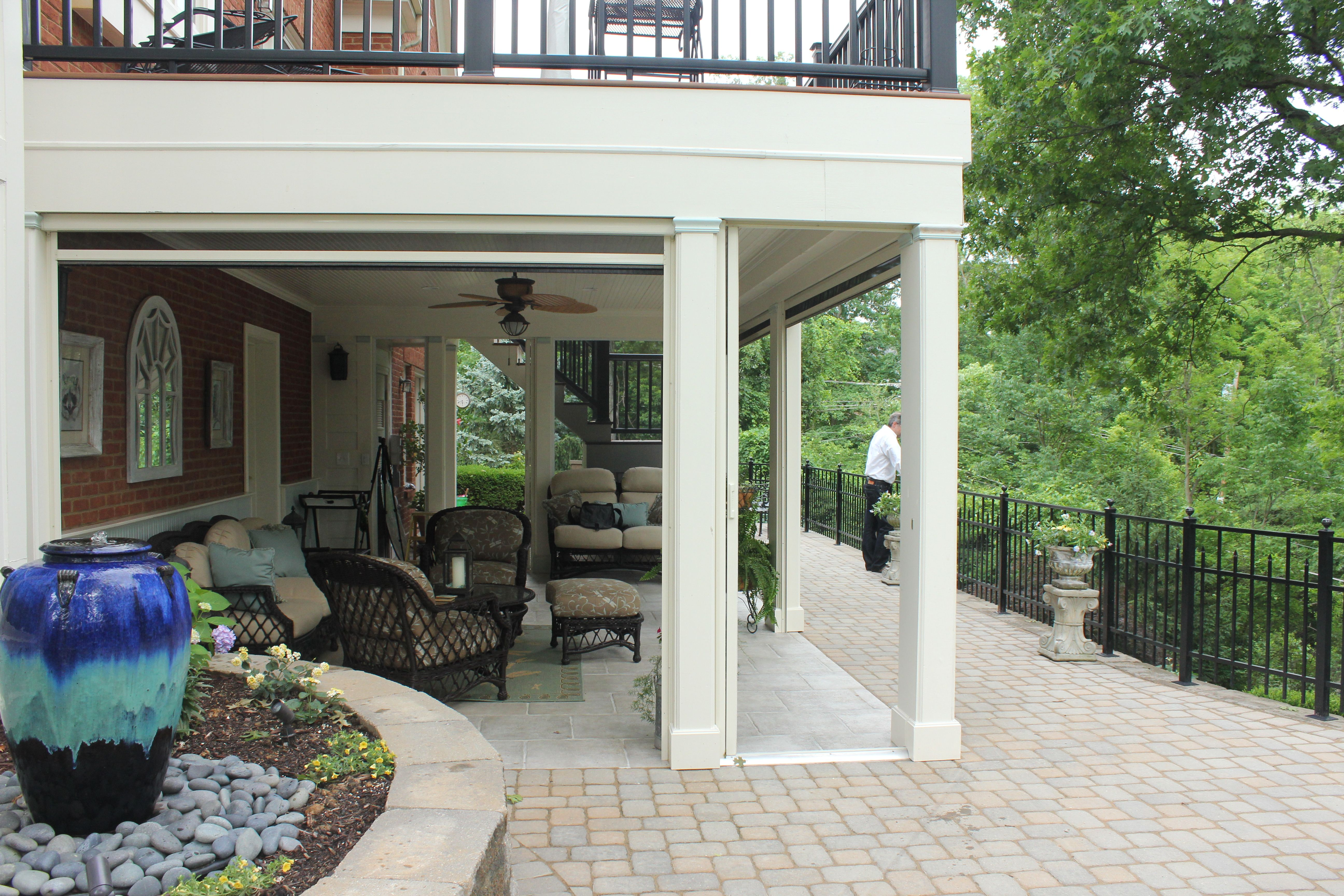 Using The Space Under Your Second Story Deck. Stoett Industries With Regard  To Patio Under Deck Patio Under Deck With Regard To Existing Property