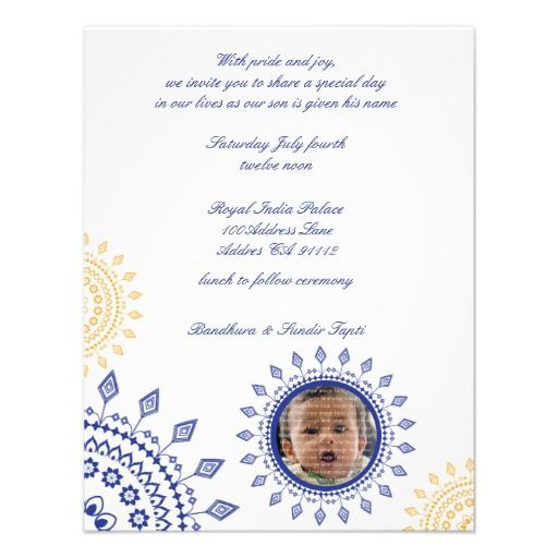 Namkaran Blue Yellow Baby Naming Invitations Zazzle Com In 2021 Naming Ceremony Invitation Naming Ceremony Baby Yellow