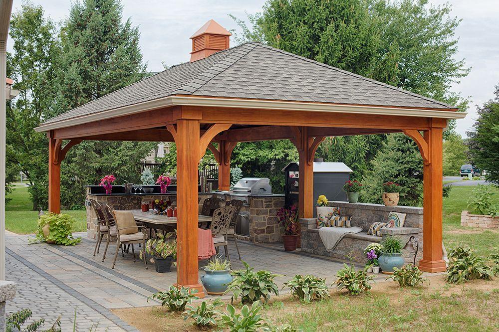 Amazing Outdoor Kitchen Designs Country Lane Gazebos Backyard Pavilion Backyard Backyard Gazebo