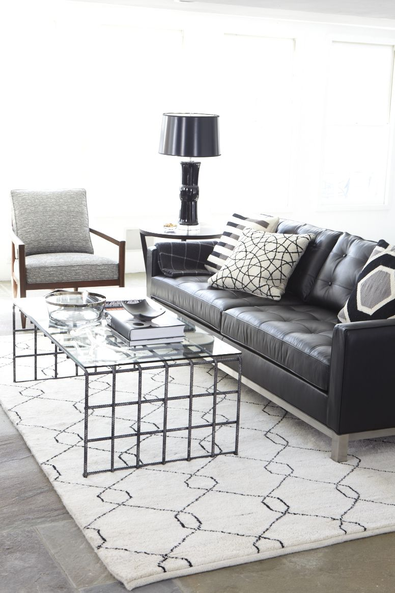 Pinned only to show a darker couch w lighter rug and contrasting ...