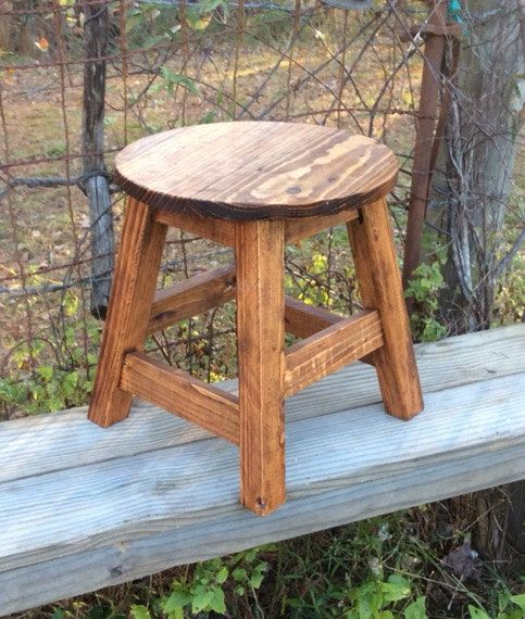 Stool Small Round Stool Milking Stool Farmhouse Stool