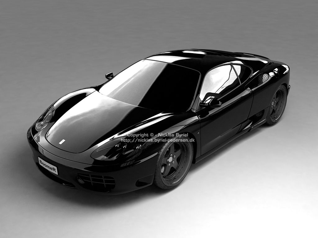 Ferrari black car