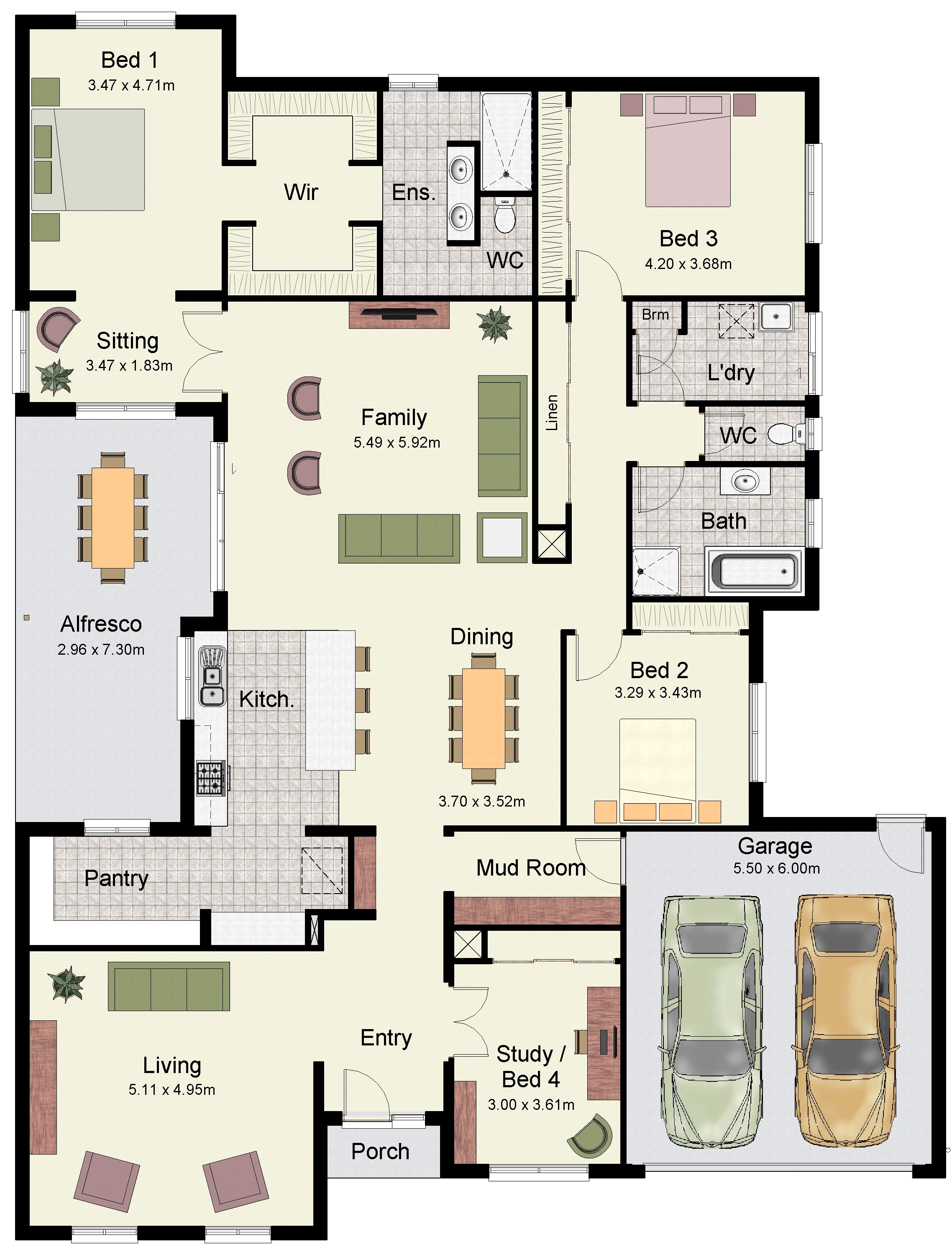 The Eureka 307 Offers A Massive Parents Retreat My House Plans Home Design Floor Plans House Construction Plan