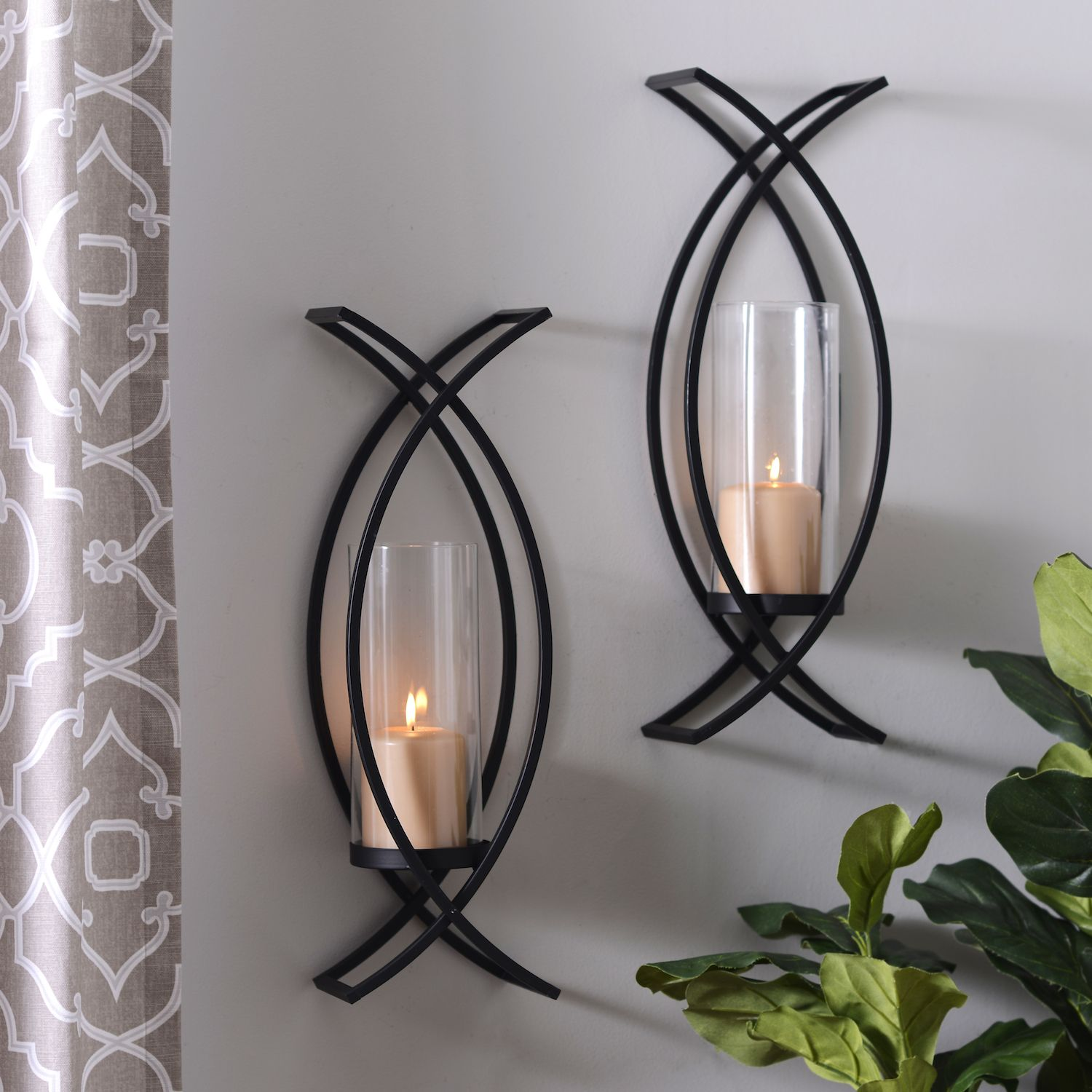 Product Details Charlie Crisscross Sconces, Set of 2 in ... on Decorative Wall Sconces Candle Holders Centerpieces Ebay id=31790