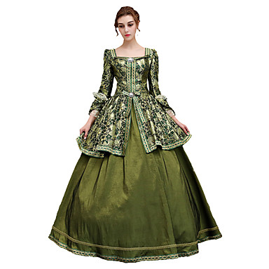 Rococo Lace Up Victorian 18th Century Dress Party Costume Masquerade Ball Gown Women's Costume Green Vintage Cosplay Satin Party Prom 3/4 Length Sleeve Floor Length Ball Gown Plus Size Customized #masqueradeballgowns Rococo Lace Up Victorian 18th Century Dress Party Costume Masquerade Ball Gown Women's Costume Green Vintage Cosplay Satin Party Prom 3/4 Length Sleeve Floor Length Ball Gown Plus Size Customized #masqueradeballgowns