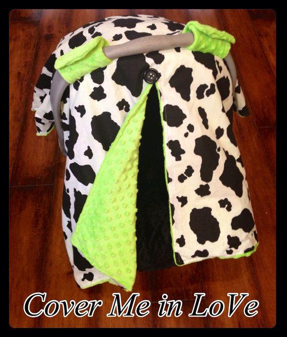 Pleasing Cow Print And Red Minky Car Seat Canopy By Covermeinlove On Frankydiablos Diy Chair Ideas Frankydiabloscom