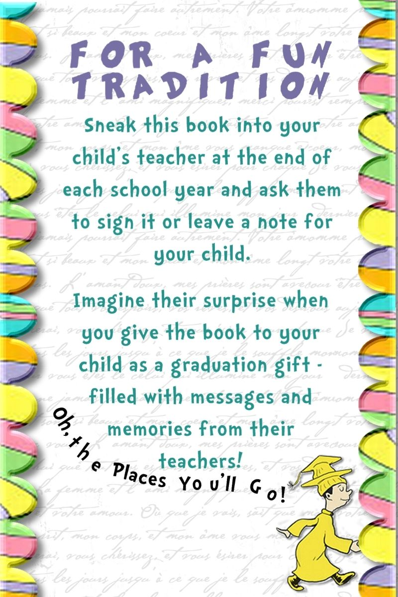 Awesome idea with Dr. Suess' Oh The Places You'll Go! Take ...