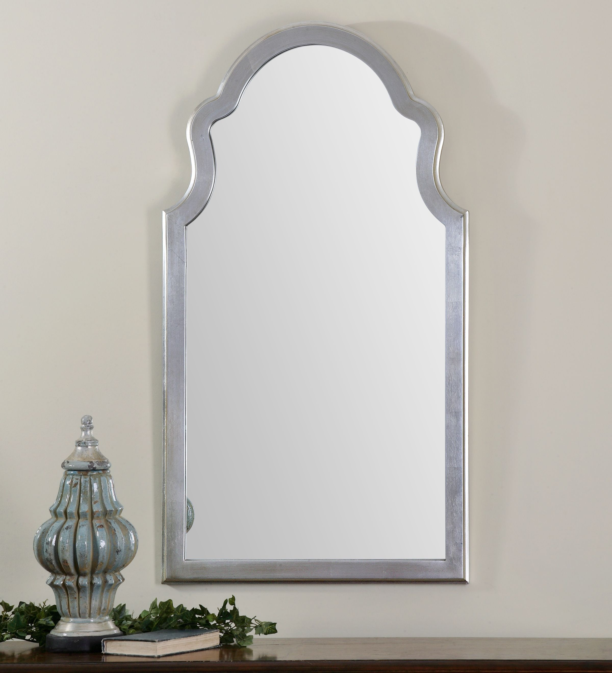 Uttermost Brayden Arched Silver Mirror | Stephanie master bedroom ...