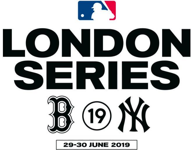 Major League Baseball Special Event Logo 2019 2019 Mlb London Series Logo New York Yankees Vs Boston Red So Event Logo Major League Baseball Major League