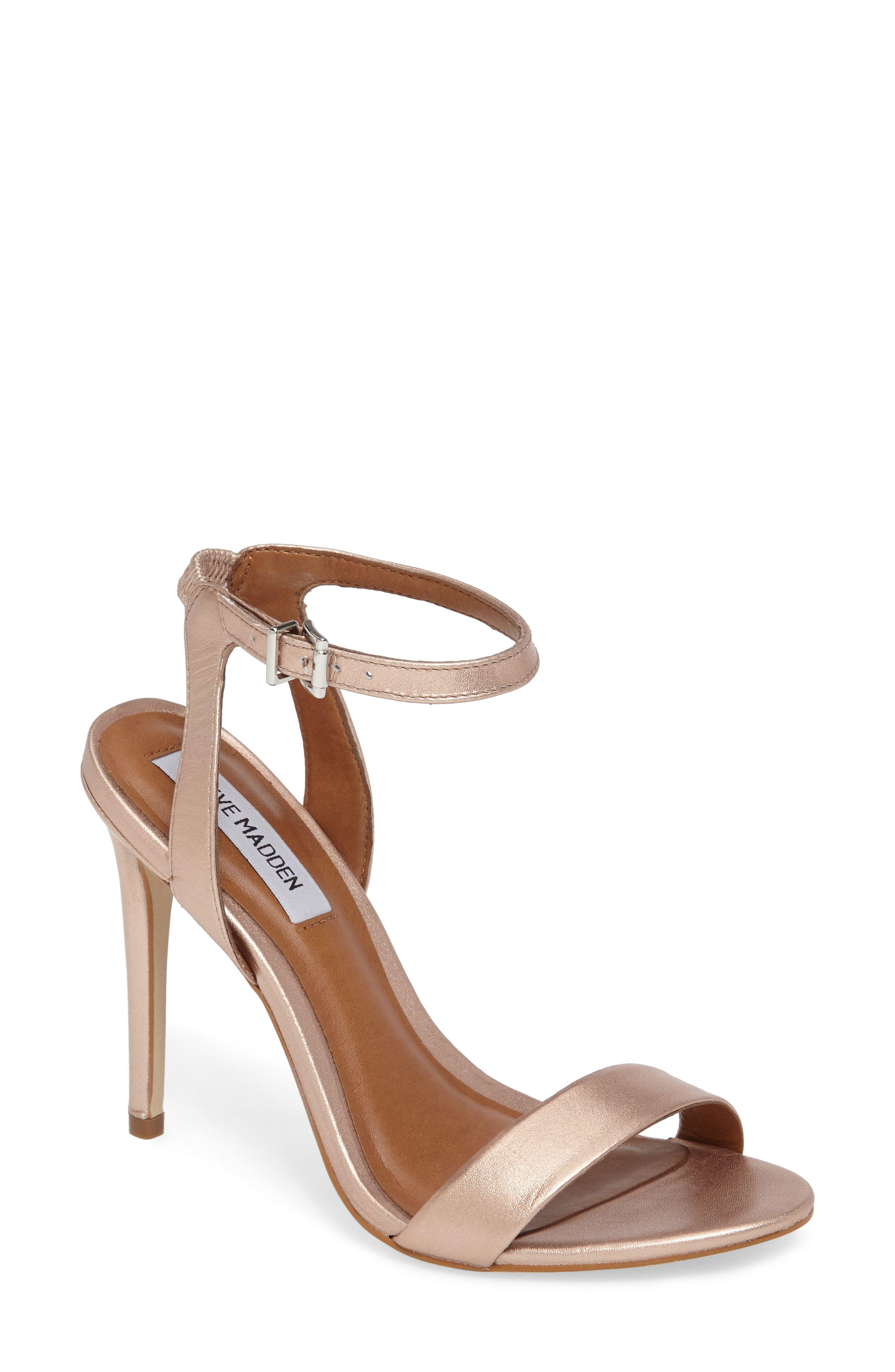 357ad6d14d6 Nude bridal Heels - Landen Ankle Strap Sandal   Neutral Weddings ...