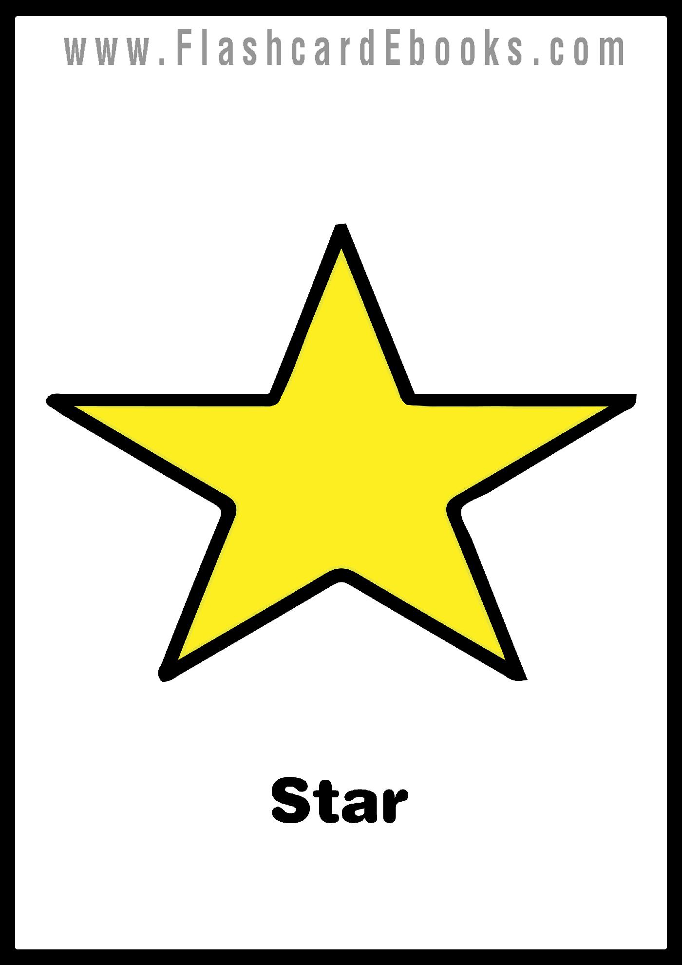 English Flashcard Kindle Shapes Star