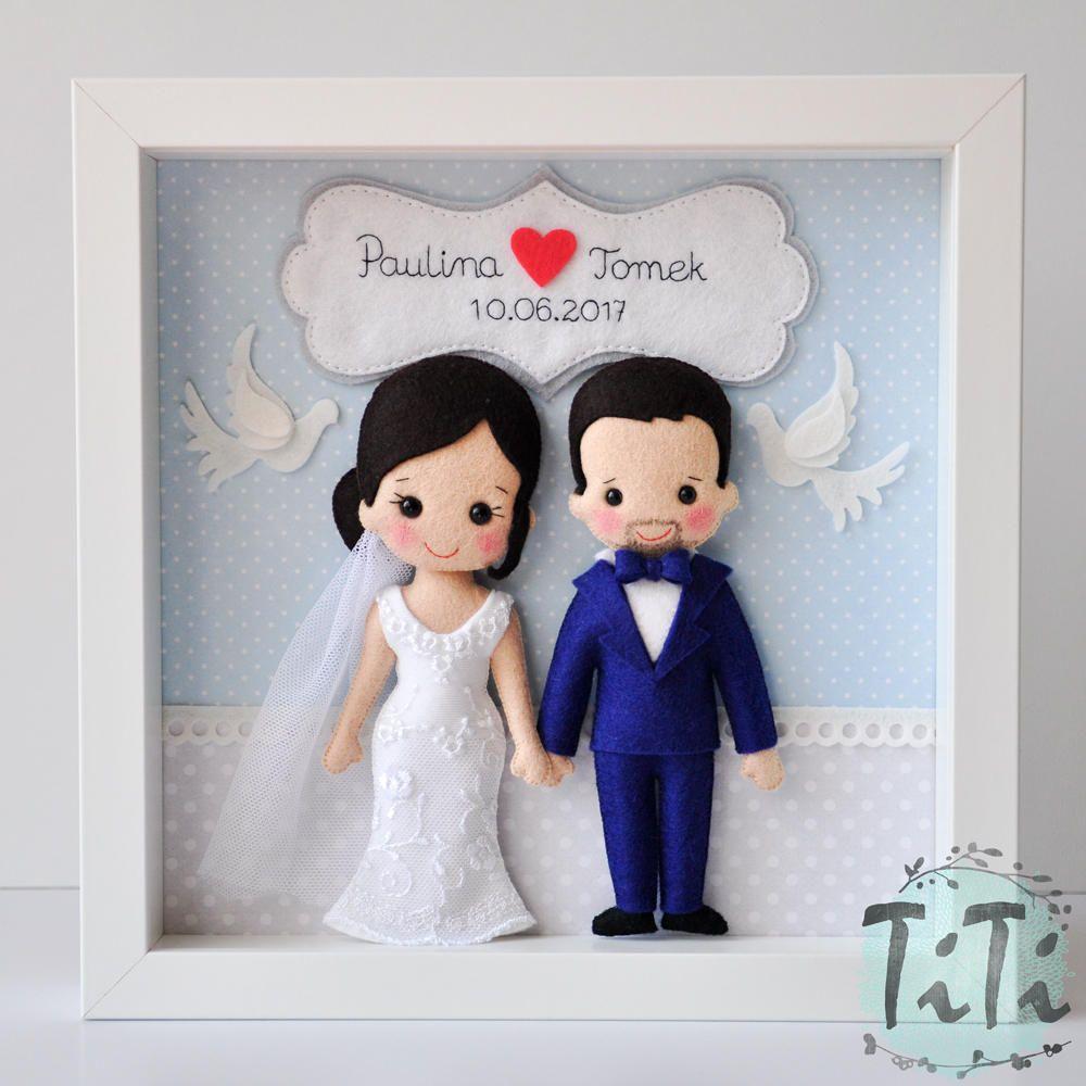 Personalizada boda caja marco marco caja memoria de boda | Fieltro ...