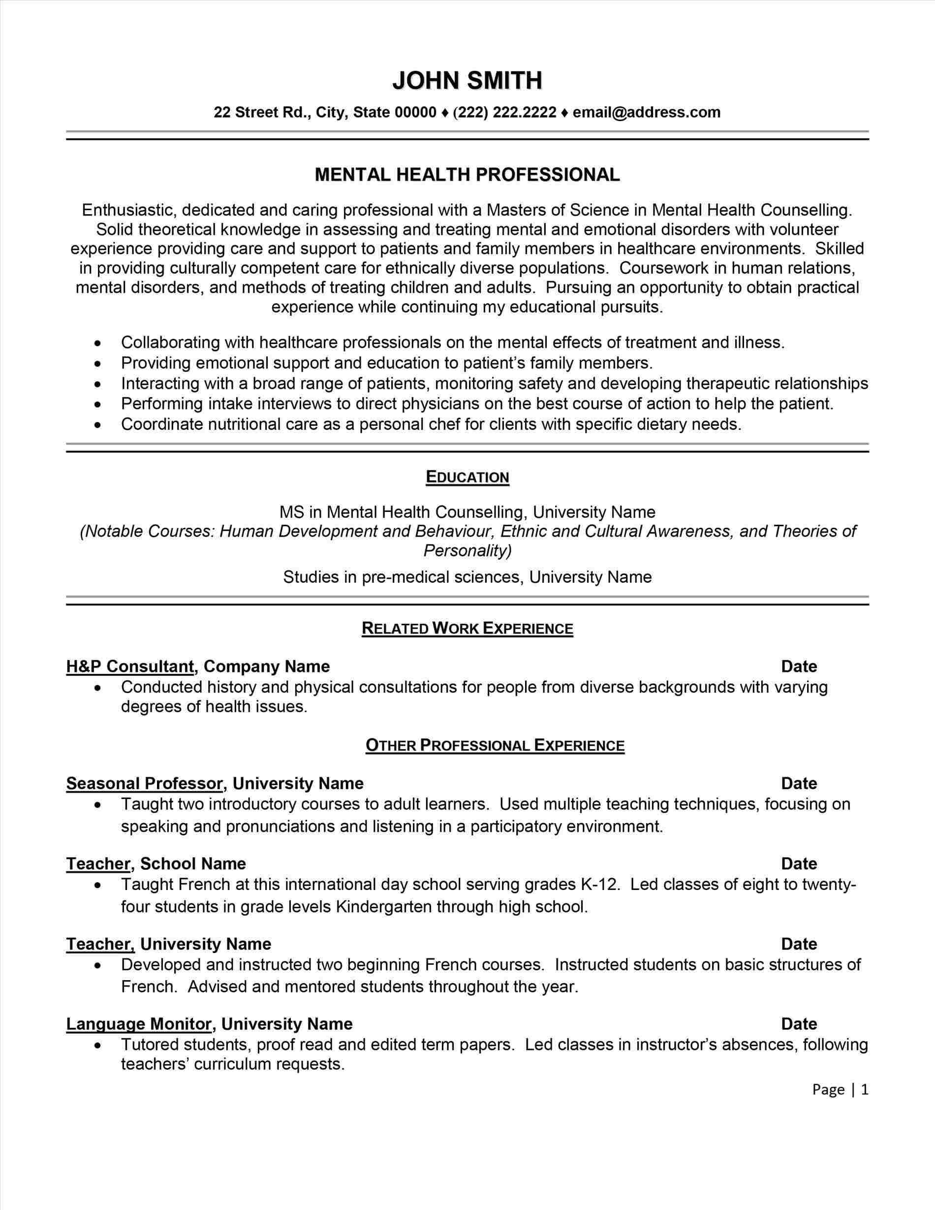 resume template 101 - Teriz.yasamayolver.com