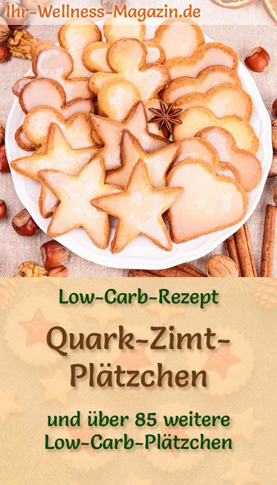 Low Carb Quark-Zimt-Plätzchen - einfaches Rezept für Weihnachtskekse #healthyshrimprecipes