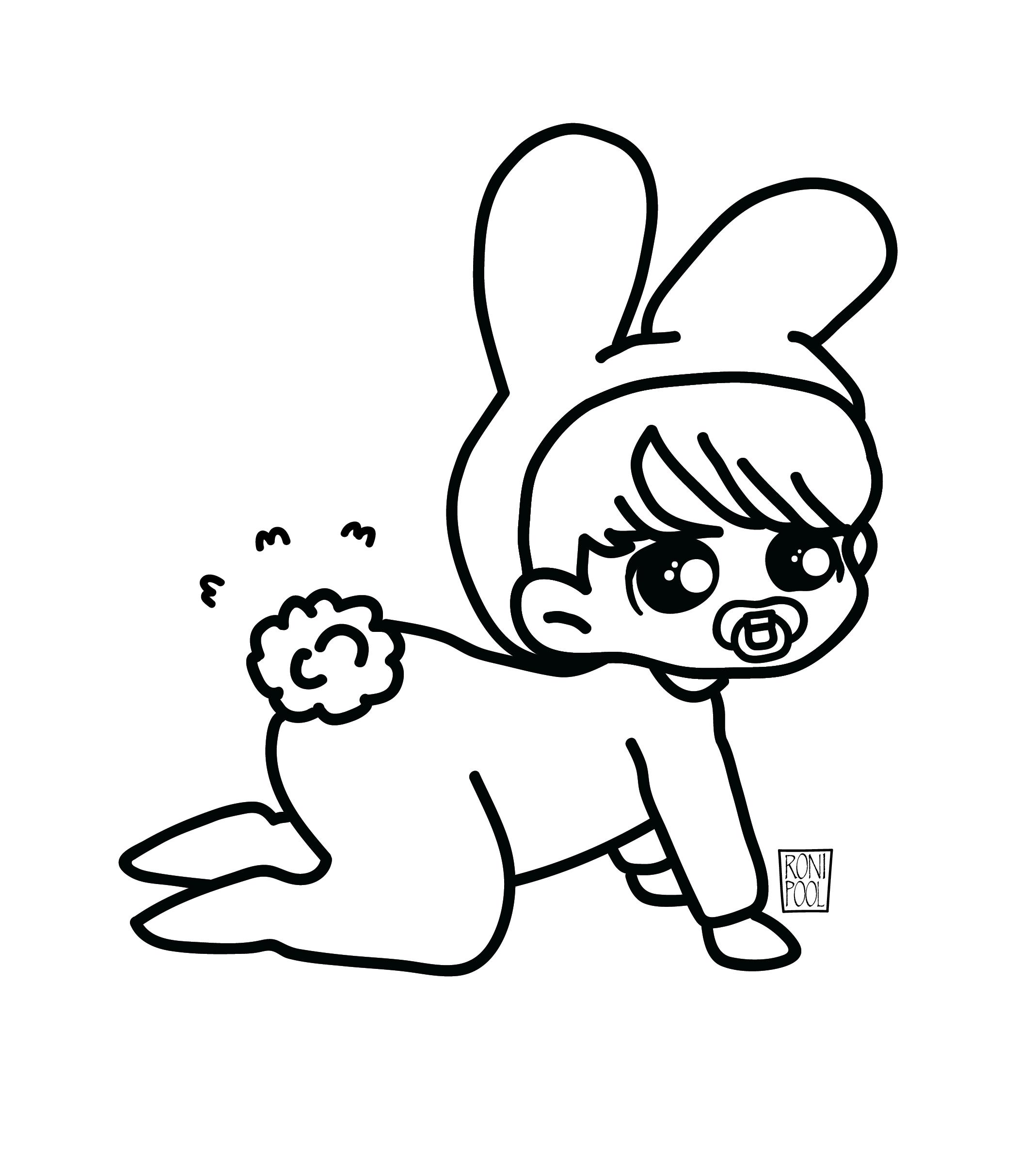 Bts Fanart Jungkook Chibi Speed Drawing Roni Pool Bts Fanart Coloring Books Chibi