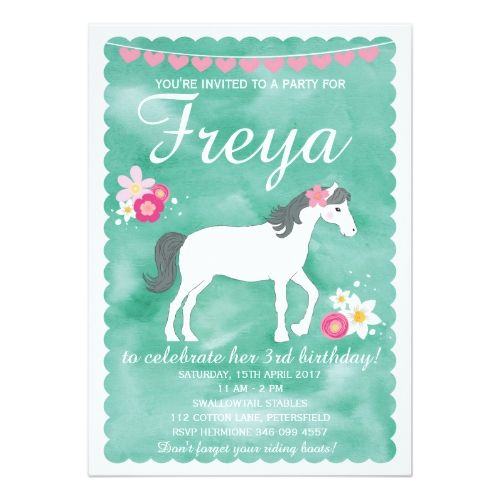 Horse birthday invitation pony party invitation birthday horse birthday invitation pony party invitation birthday invitations pinterest horse birthday pony party and party invitations stopboris Image collections