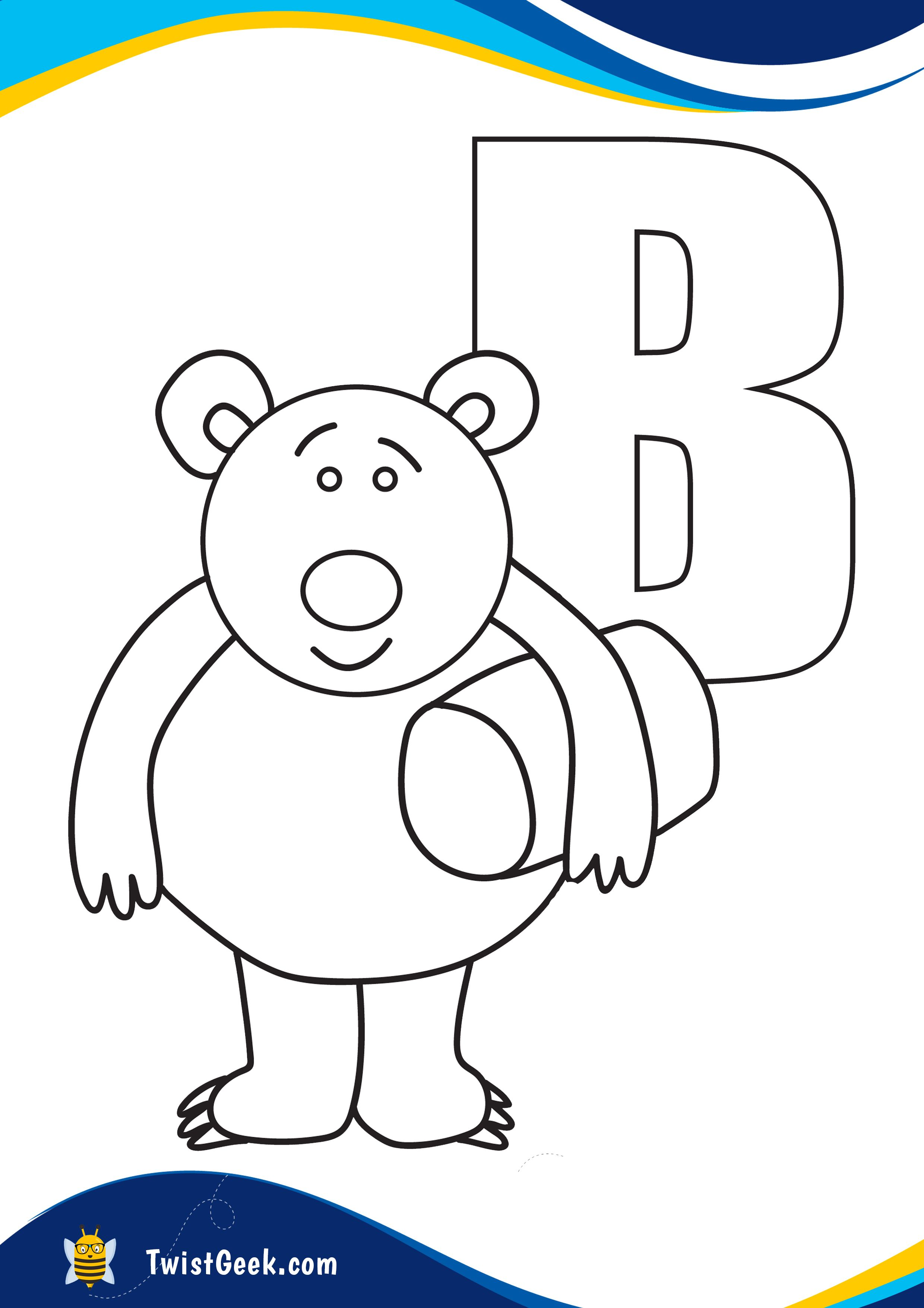 Letter B Coloring Pages In