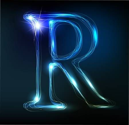 Glowing Neon Font Shiny Letter Neon R Wallpaper Beautiful Wallpapers Backgrounds