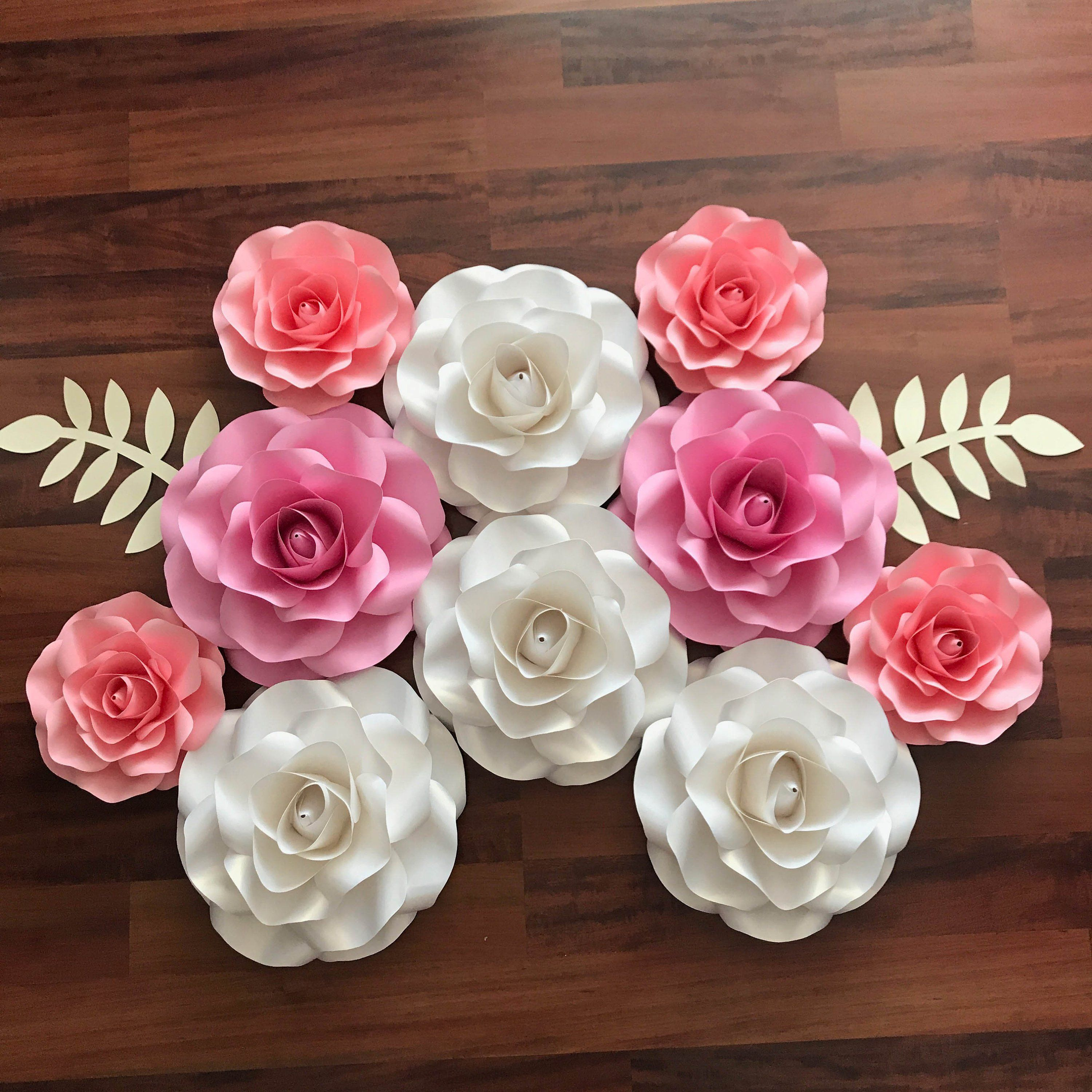 Download SVG COMBO of Small and Mini Rose Paper Flower Template DIY ...