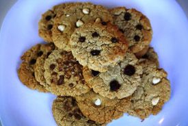 Hybrid cookies- cross between chocolate chip and oatmeal