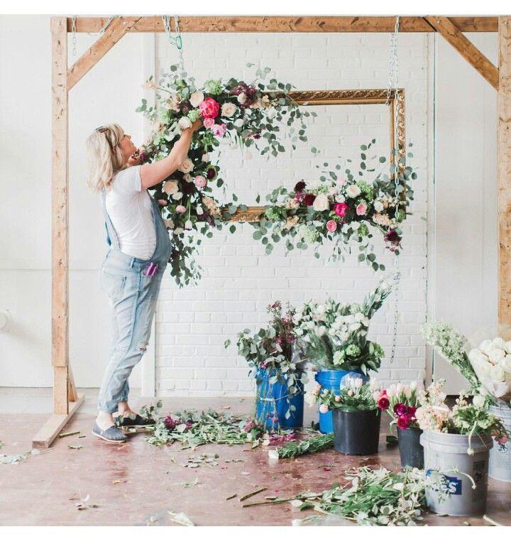Boda – Vintage – Boda – Esquina de fotos – Marco de flores – Ideas de boda – Bricolaje