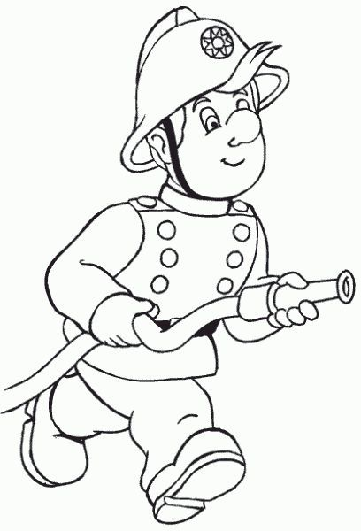Fireman coloring page   Best of Fourth Grade   Pinterest   Firemen ...