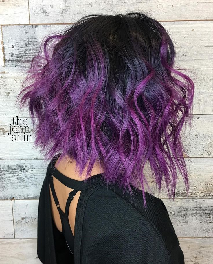 32 Cute Dyed Haircuts To Try Right Now Colored Hair Tips Ombre Hair Hair Color Purple