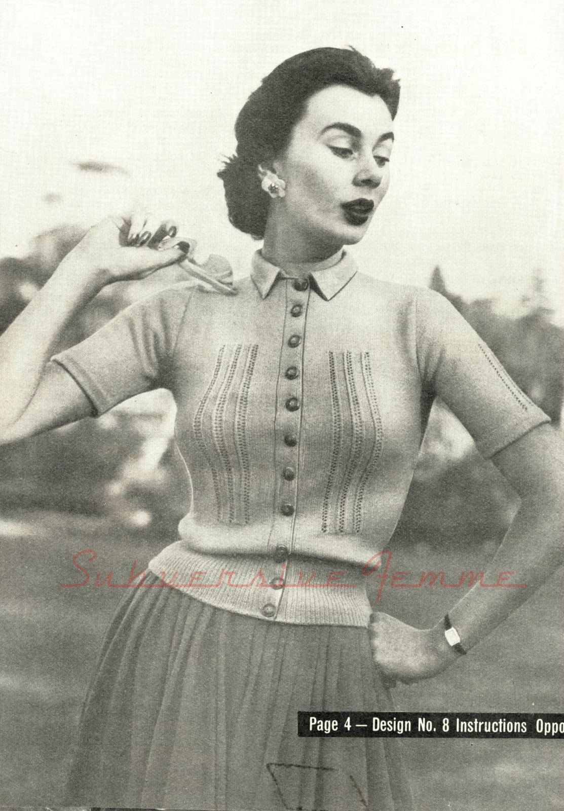The Vintage Pattern Files: Free 1950\'s Knitting Pattern - A Lace ...