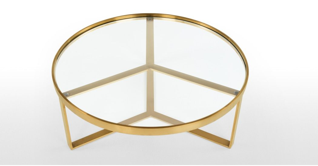 Aula Coffee Table Brushed Brass And Glass Coffee Table Frame Gold Coffee Table Glass Coffee Table