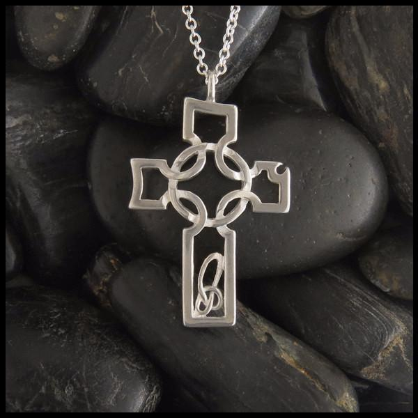 Sterling Silver Caldwell Celtic Cross Pendant in 2020