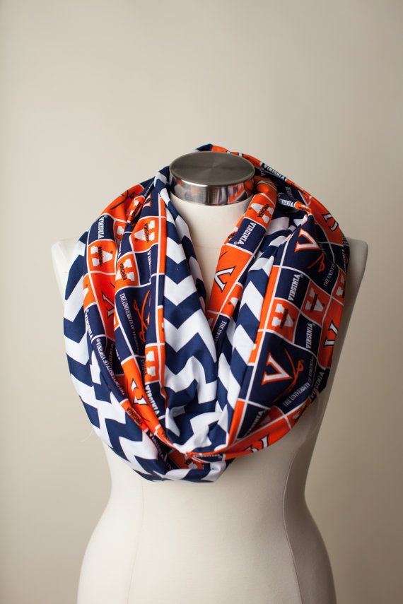 The University of Virginia Infinity Scarf on Etsy 2400