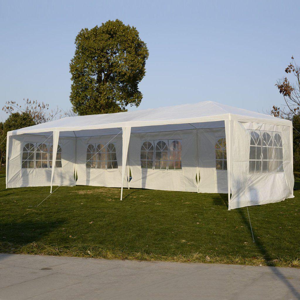 10u0027x30u0027 Party Wedding Outdoor Patio Tent Canopy Heavy Duty Gazebo Pavilion  Event