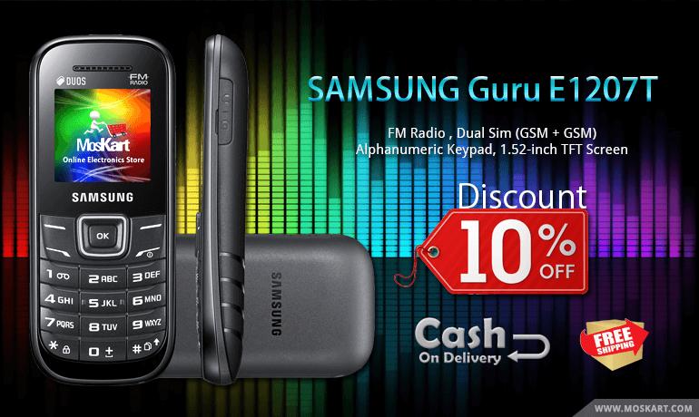 Amazing Deals on Samsung Guru E1207T Black - Get it now @ Rs. 1,349.00 with the lowest price in India from Moskart.com  #SamsungGuruE1207T #shoppingonline #SamsungGuruE1207Tpriceinindia #shop #shopnow