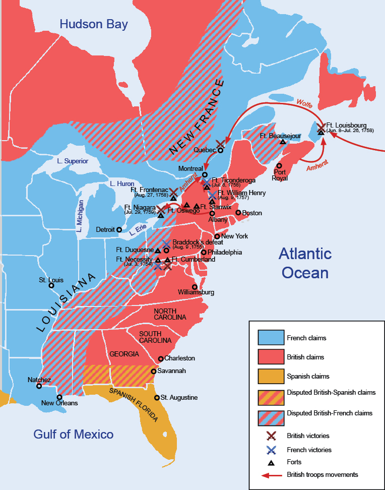 Image result for map of colonies french and indian war