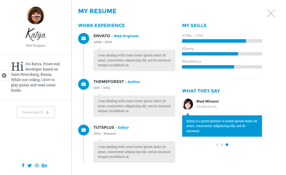Bootstrap Resume Template This Resume And Cv Joomla Theme Offers Unlimited Colors A