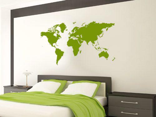 Wandtattoo Weltkarte Schlafzimmer (mit Bildern