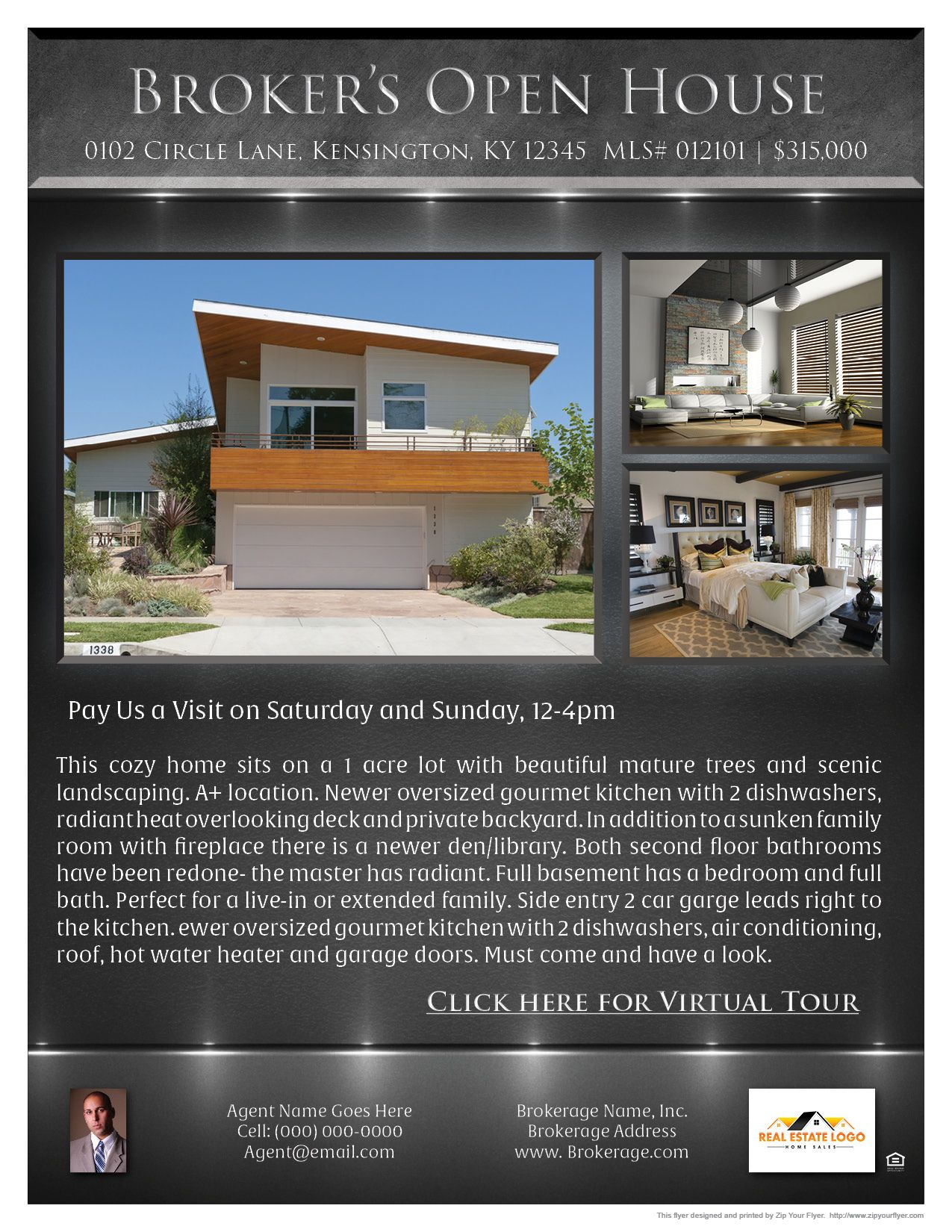 steel flyer template realty for agents pinterest real estate