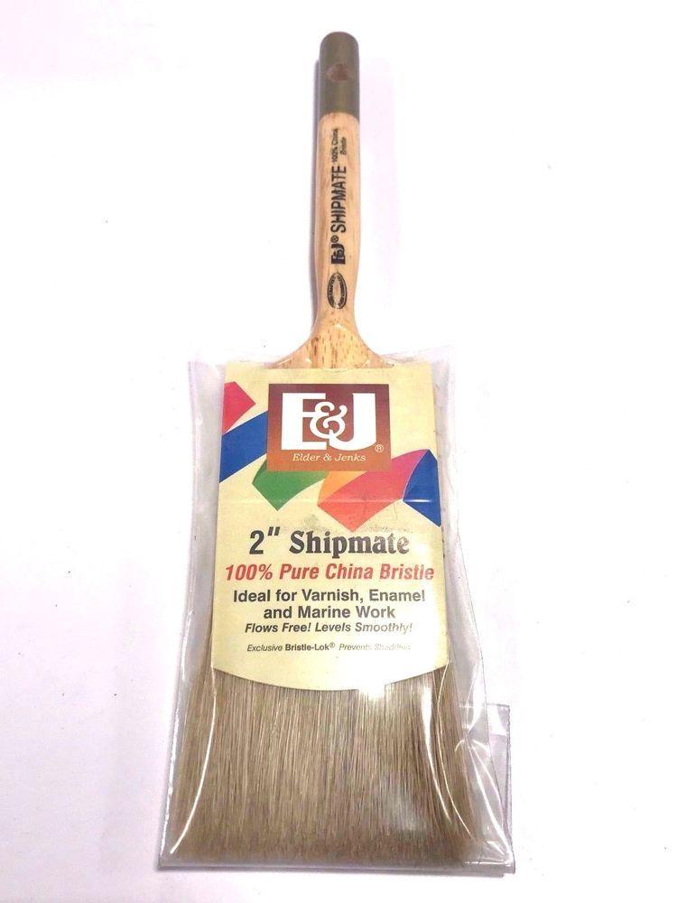 Elder Jenks Shipmate 100 China Bristle Varnish Brush 2 Flat Marine Elderjenks Pure Products Ebay Broom