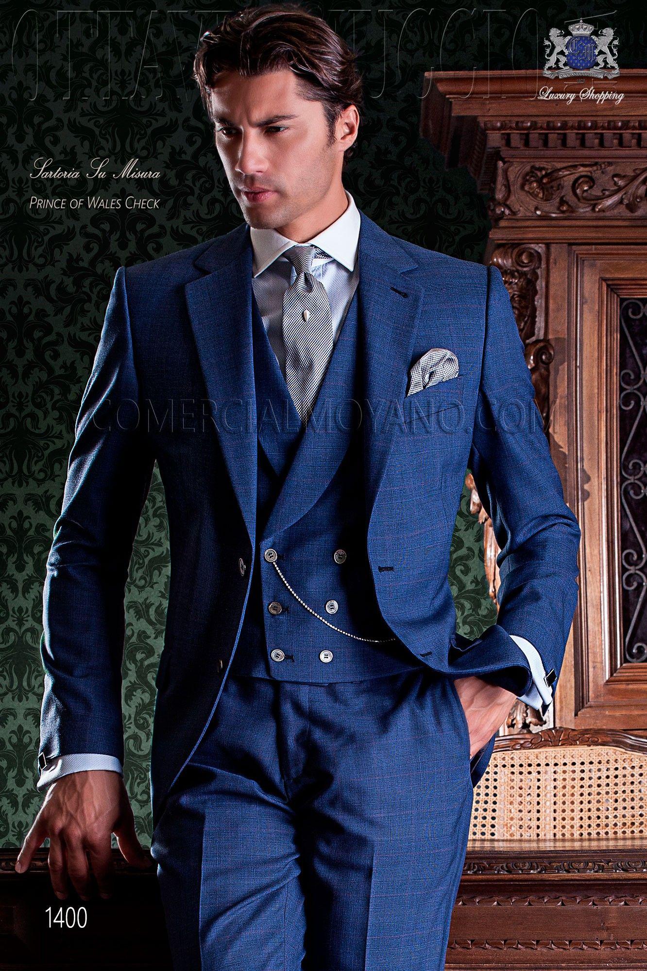italienisch klassiche hochzeitsanzug blau im. Black Bedroom Furniture Sets. Home Design Ideas