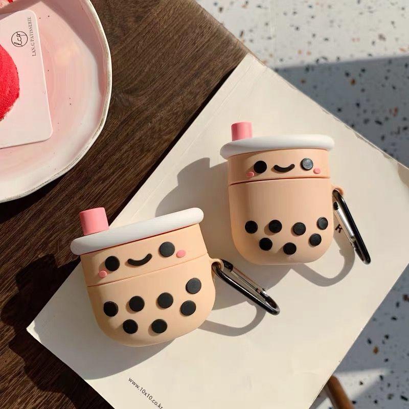 Airpod Pro Or Airpod Silicone Cute Bubble Milk Tea Boba Airpods