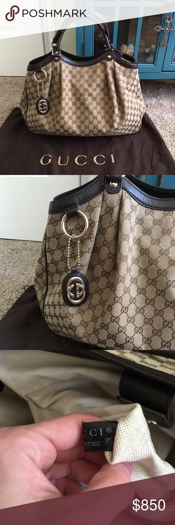 573500c3ca52 Gucci Sukey Tote Buy/Trade Authentic Gucci Sukey canvas/leather large tote