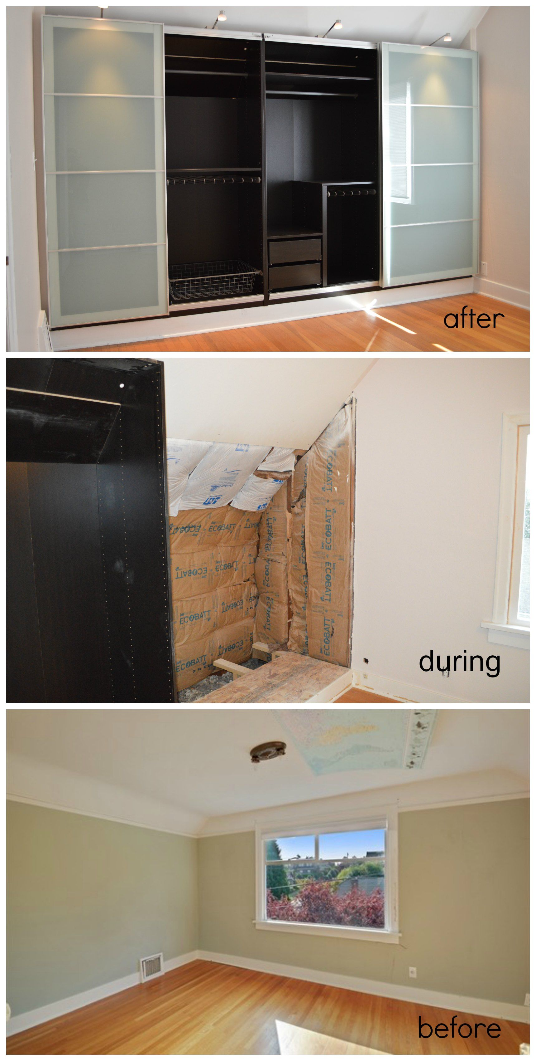 Built In Ikea Closet System In 1927 House. With Only A Tiny Closet In