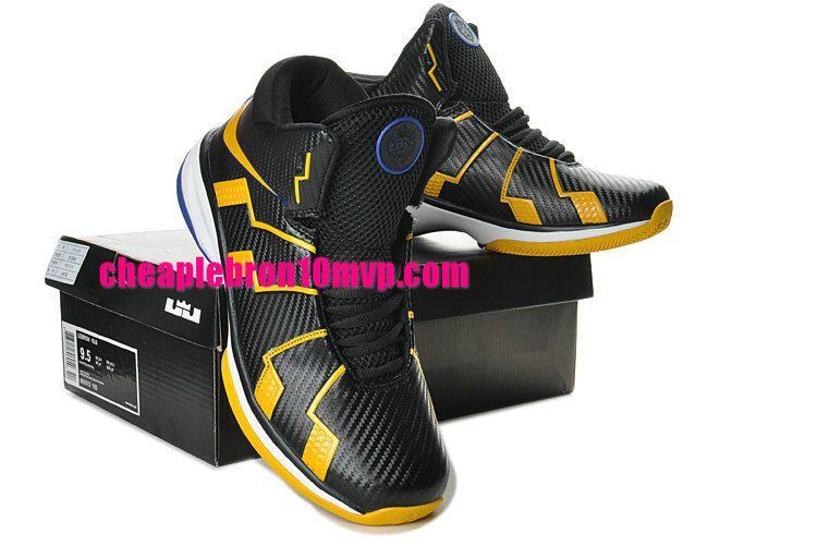 quality design 01912 a493a Lebron 10.8 Black Yellow White Green Cheap Lebron James Shoes