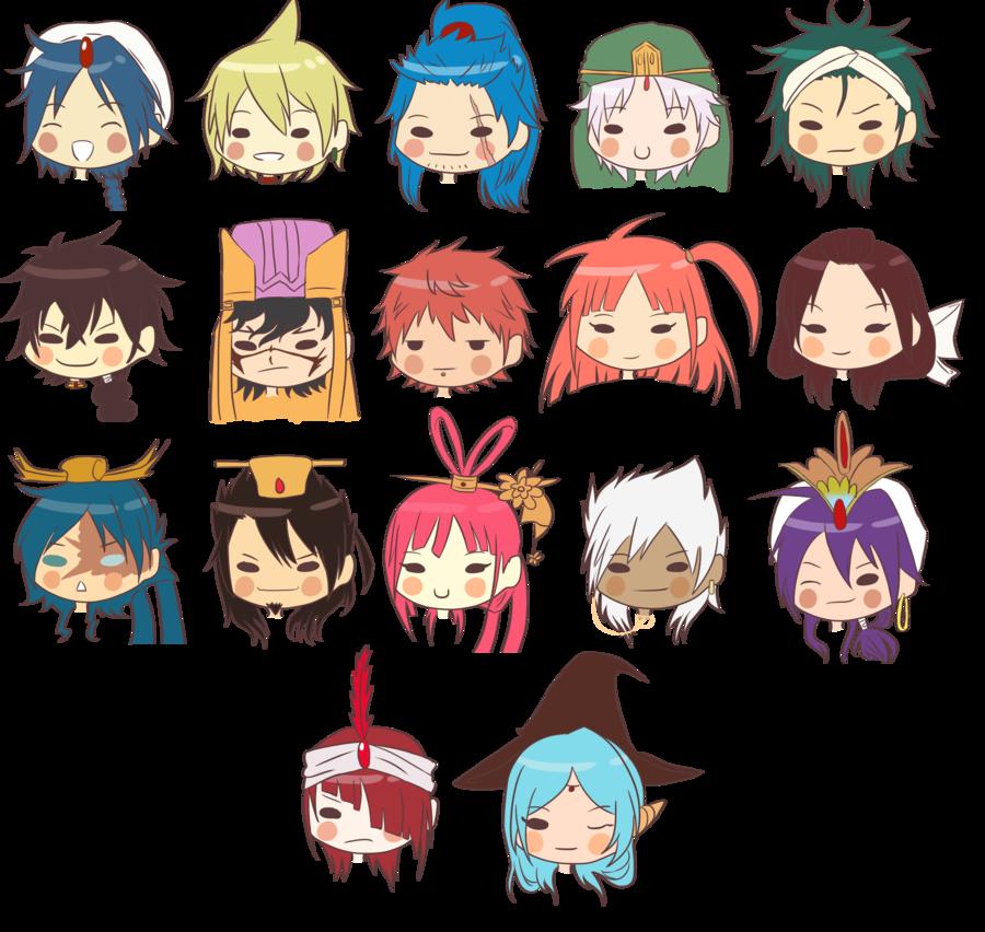 Magi chibi characters absolutely kawai Pinterest
