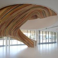 sculptural stairs at School of Arts in Saint Herblain, France