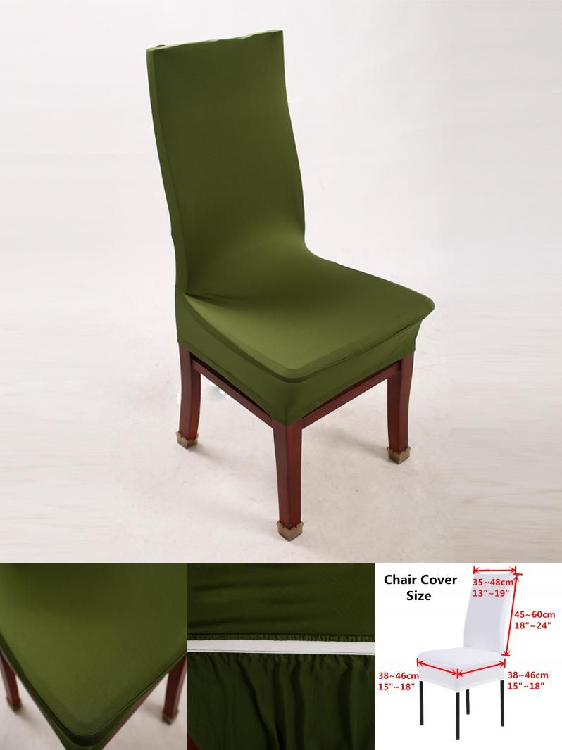 Visit to Buy] Green Chair Covers Lycra Spandex Stretch Chair For ...