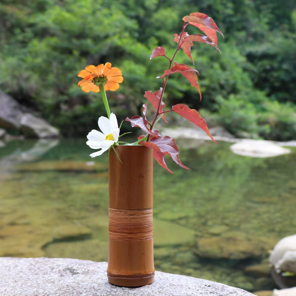Japanese Handmade Bamboo Flower Vase Decoration Homedecorlover Homestuff Homedecorstuff Luxuryhomes Hom Flower Vases Wedding Decor Vases Japanese Bamboo