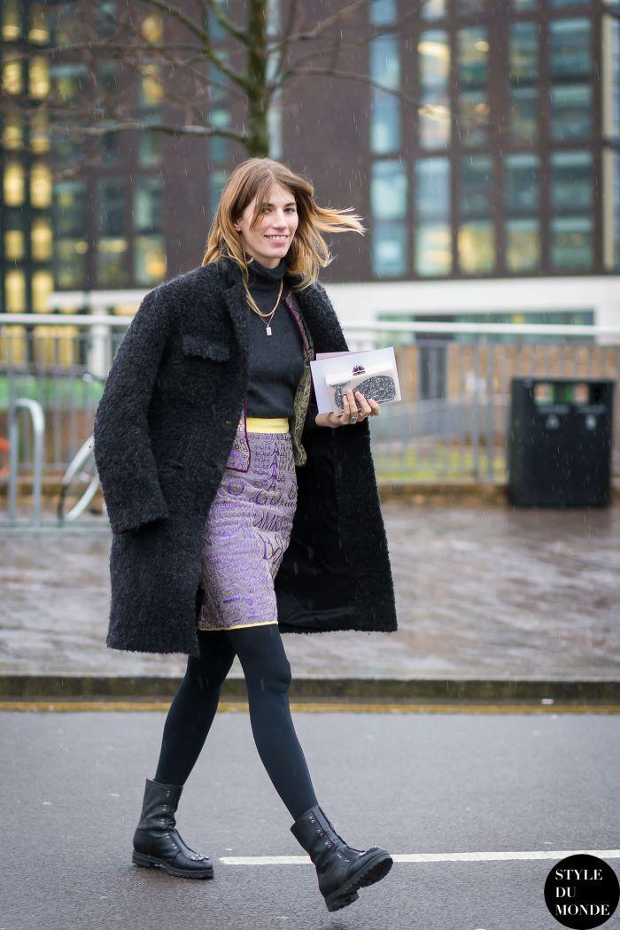 London Fashion Week FW 2015 Street Style: Veronika Heilbrunner - STYLE DU MONDE | Street Style Street Fashion Photos