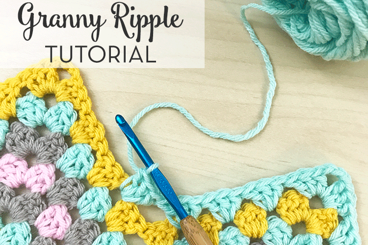 Crochet Granny Ripple Tutorial - Free Crochet Pattern by | Cuadro